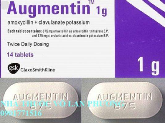 thuốc augmentin 1000mg điều trị nhiễm khuẩn?(1)