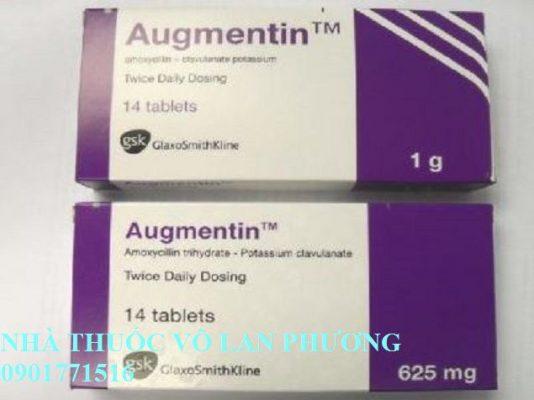 thuốc augmentin 1000mg điều trị nhiễm khuẩn?(3)