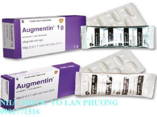 thuốc augmentin 1000mg điều trị nhiễm khuẩn?(4)